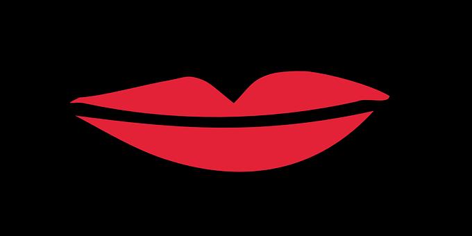 真っ赤な女性の唇