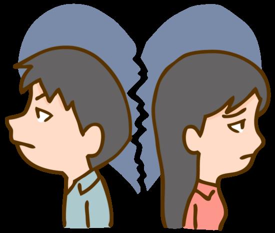 険悪な雰囲気のカップル
