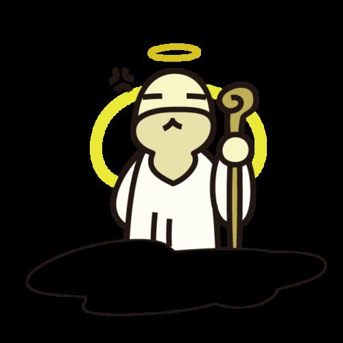 怒る神様のイラスト